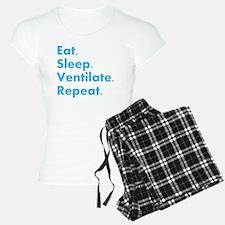 RT Eat sleep VENTILATE DARK Pajamas