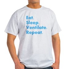 RT Eat sleep VENTILATE DARKS T-Shirt