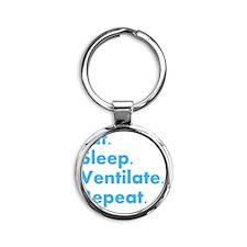 RT Eat sleep VENTILATE DARKS Round Keychain