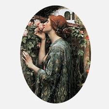 John William Waterhouse My Sweet Ros Oval Ornament