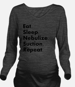 RT eat sleep nebuliz Long Sleeve Maternity T-Shirt