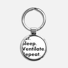 RT eat sleep VENTILATE Round Keychain