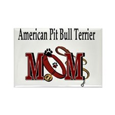 American Pit Bull Terrier Mom Rectangle Magnet
