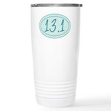 13.1 Blue Chevron Travel Mug