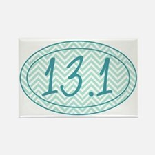 13.1 Blue Chevron Rectangle Magnet