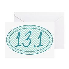 13.1 Blue Chevron Greeting Card
