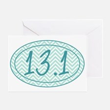 13.1 Blue Chevron Greeting Card