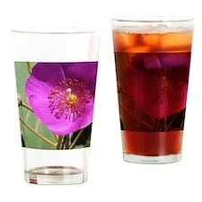 Pink wildflower Drinking Glass