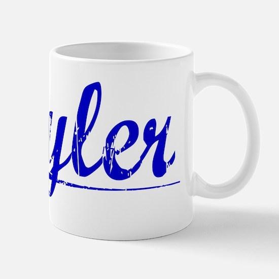 Kyler, Blue, Aged Mug