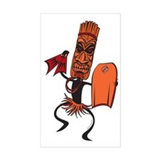 Bodyboarding Tiki Warrior Decal