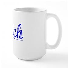 Latch, Blue, Aged Mug
