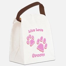 Live Love Groom Canvas Lunch Bag