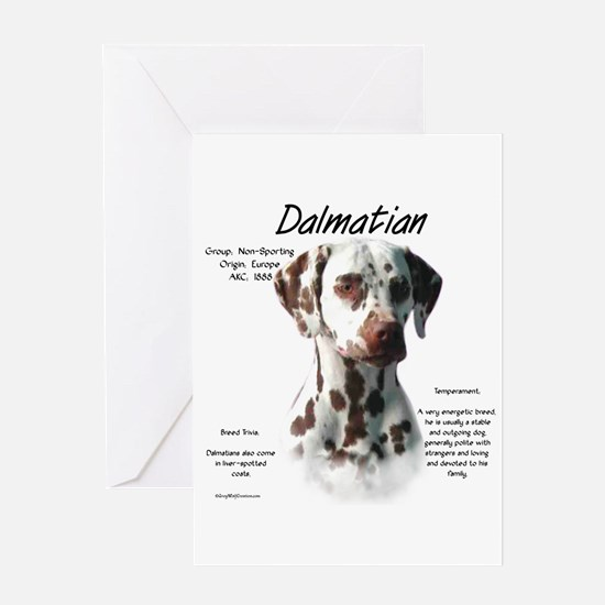 Dalmatian (liver spots) Greeting Card