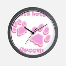 Live Love Groom Wall Clock