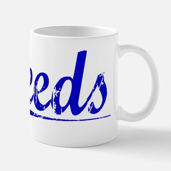 Leeds, Blue, Aged Mug
