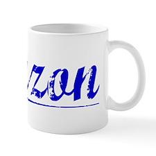 Lauzon, Blue, Aged Mug