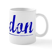Landon, Blue, Aged Mug