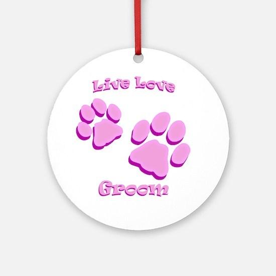 Live Love Groom Round Ornament
