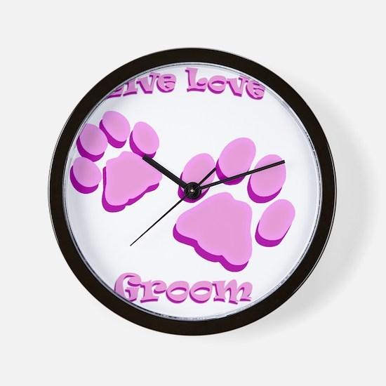 Live Love Groom Wall Clock