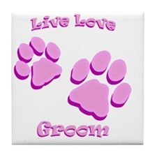 Live Love Groom Tile Coaster