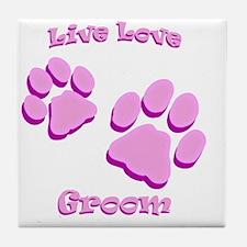 Live Love Groom Tile Coaster
