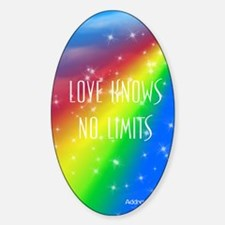 Love Knows No Limits Sticker (Oval)