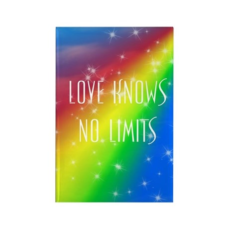 Love Knows No Limits Rectangle Magnet