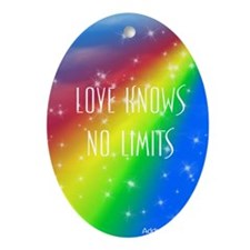 Love Knows No Limits Oval Ornament