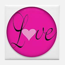 Love Message for Breast Cancer Awaren Tile Coaster