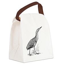 Bittern Bird T-Shirt Canvas Lunch Bag