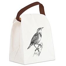 Meadowlark Bird T-Shirt Canvas Lunch Bag
