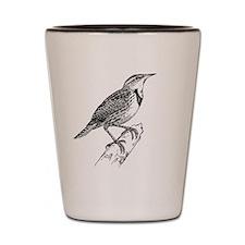 Meadowlark Bird T-Shirt Shot Glass