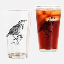Meadowlark Bird T-Shirt Drinking Glass
