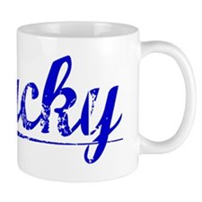 Lucky, Blue, Aged Mug