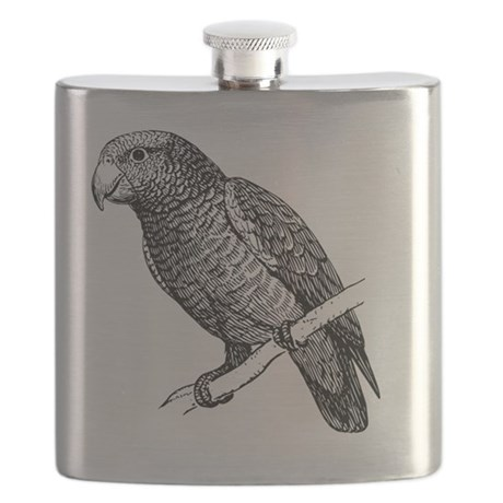 Amazon Parrot Bird T-Shirt Flask