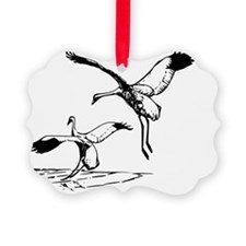 Whooping Cranes Bird T-Shirt Ornament