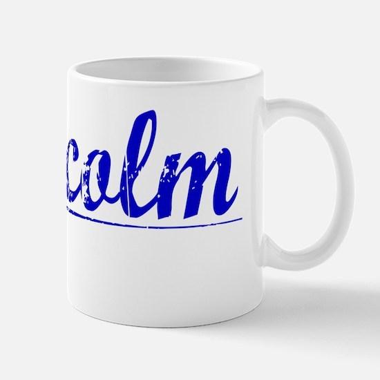 Malcolm, Blue, Aged Mug