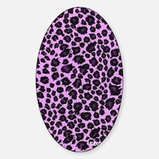 Purple Leopard Address Book Sticker (Oval)