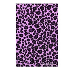 Purple Leopard Address Bo Postcards (Package of 8)