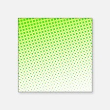 """Lime Green Dots Square Sticker 3"""" x 3"""""""