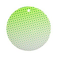 Lime Green Dots Ornament (Round)