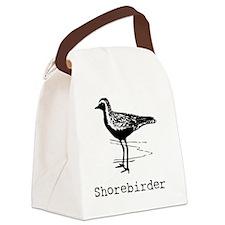 Shorebirder Birding T-Shirt Canvas Lunch Bag
