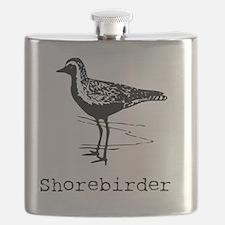 Shorebirder Birding T-Shirt Flask