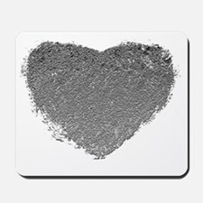 Silver Heart Mousepad