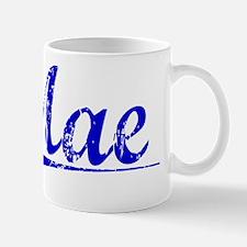 Mae, Blue, Aged Mug