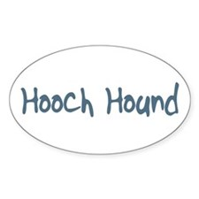 Hooch Hound Oval Decal