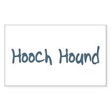 Hooch Hound Rectangle Decal