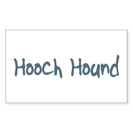 Hooch Hound Rectangle Sticker