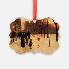 Childe Hassam Boston In Everyday  Ornament