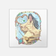 "Hummingbird Dreamcatcher Square Sticker 3"" x 3"""